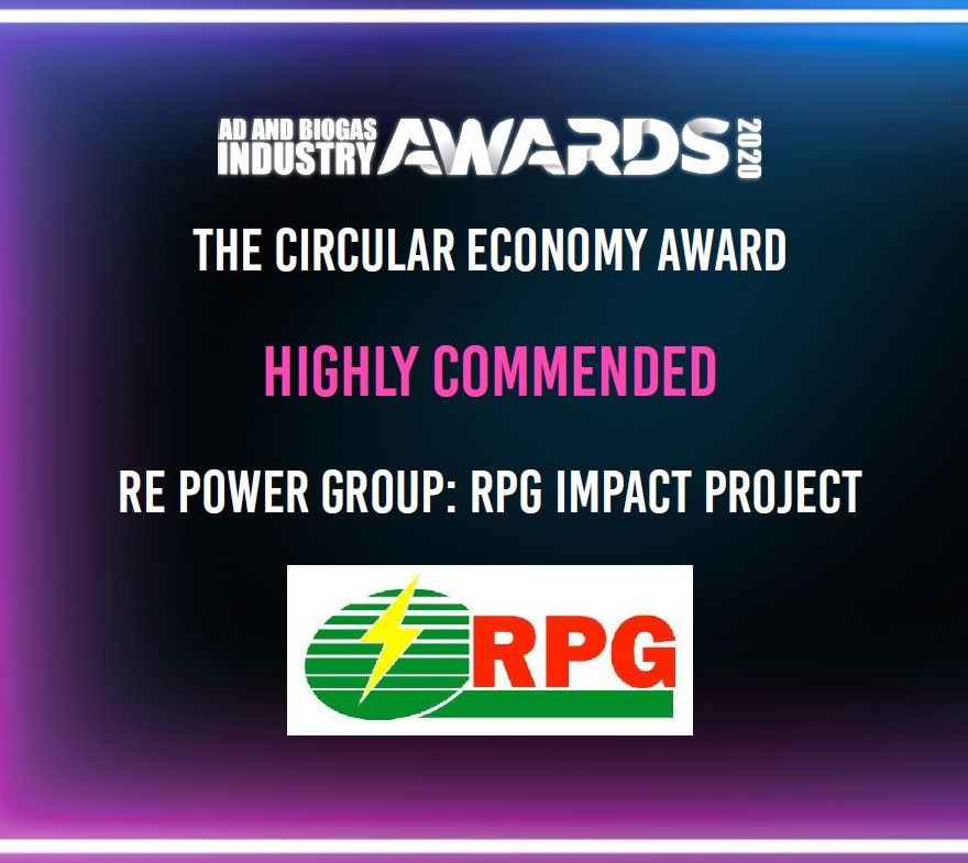 Highly Commended at global ADBA & Biogas Industry Awards